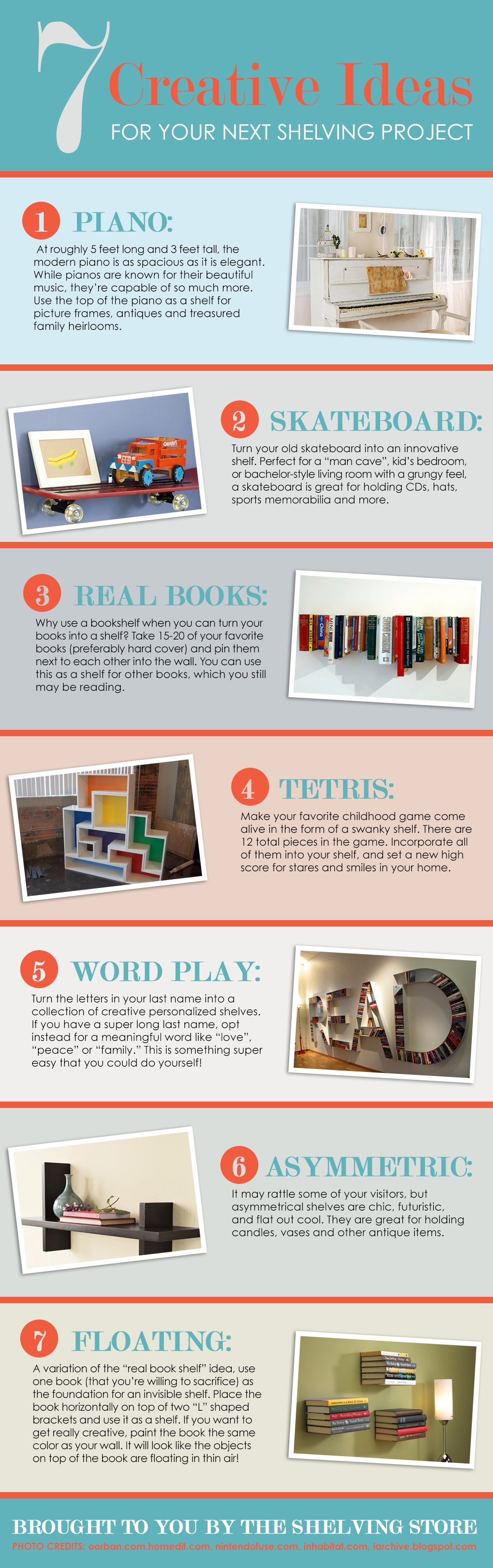 Creative Ideas for Shelving Project