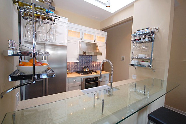 Wall-mounted-storage-in-a-modern-kitchen