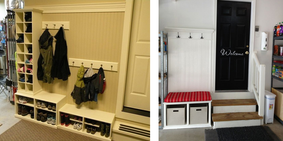 Often The Garage Is Also An Entryway To Home For A Family Prevent Snow Slush And Mud From Getting Tracked Into Your House By Creating Mudroom In