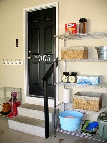 Garage Mudroom Wire Shelving