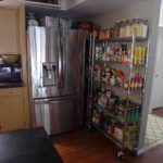 Wire Shelving Pantry Next To Fridge