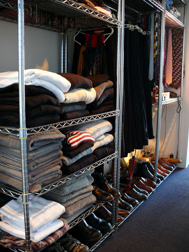 Wire Shelving In Closet