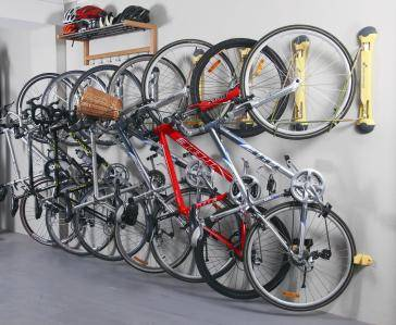 bike rack in garage