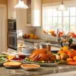 kitchen during thanksgiving