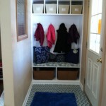 closet into a mudroom