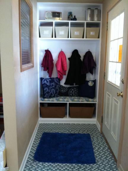 Closet Into A Mudroom