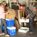 decluttering in garage