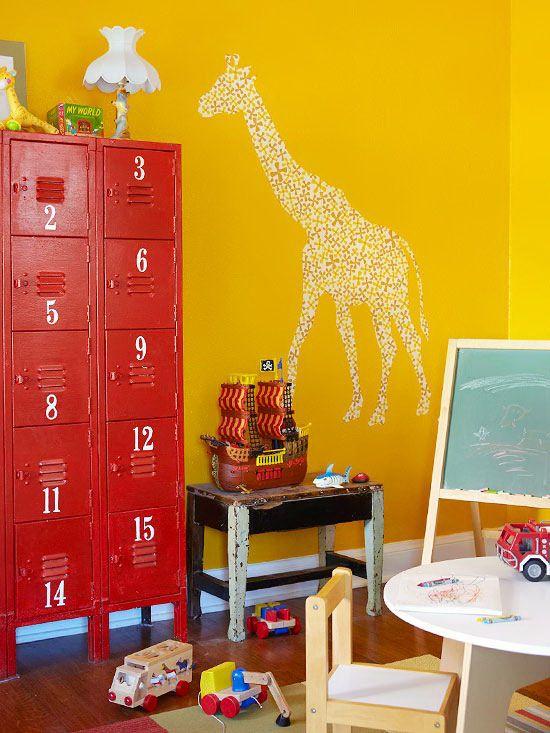 locker in kids playroom