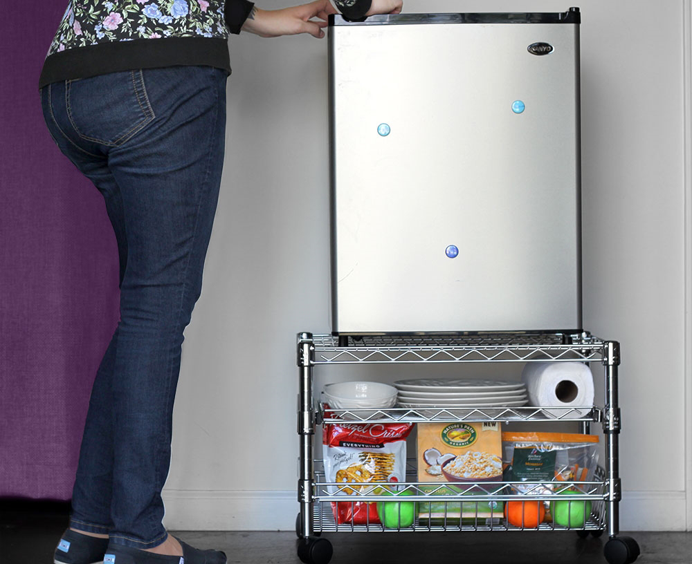 Uses For Mini Fridge Stands Around The Home The Shelving