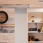 shelving for walls with wood paneling