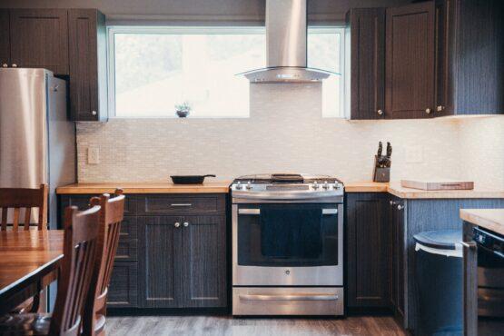 combination dining room kitchen organization